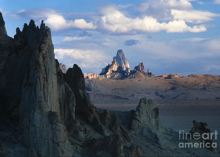 Southwest Greeting Card featuring the photograph Sunrise On Church Rock by Sandra Bronstein