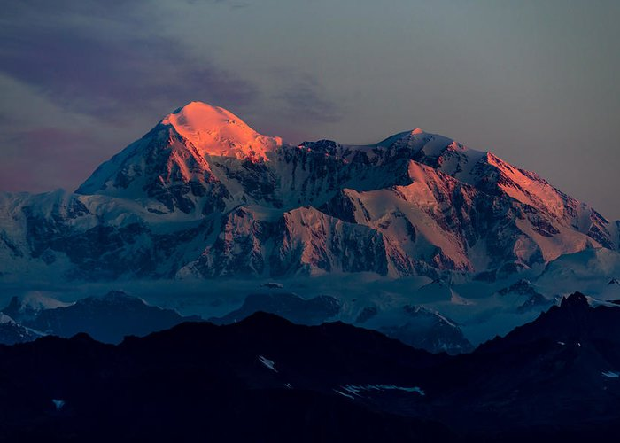 Denali Greeting Card featuring the photograph Sunrise On Denali by Ian Stotesbury