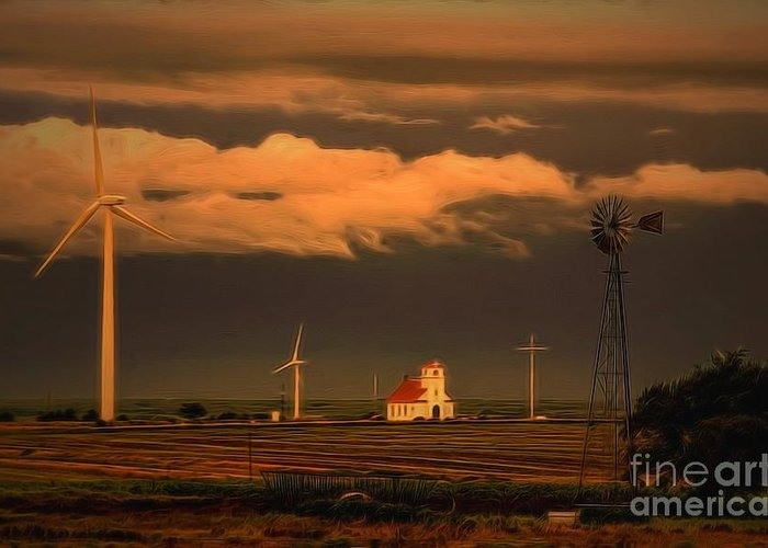 Kansas Sentinels Greeting Card featuring the photograph Sunrise On The Prairie by Jon Burch Photography