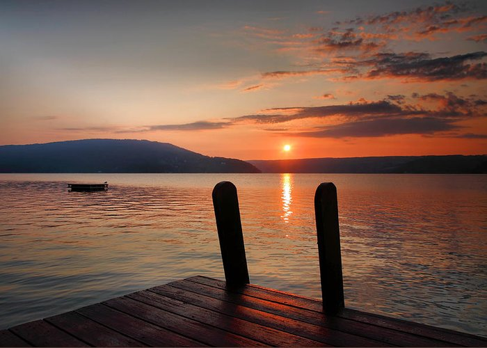 Dawn Greeting Card featuring the photograph Sunrise Over Keuka IIi by Steven Ainsworth