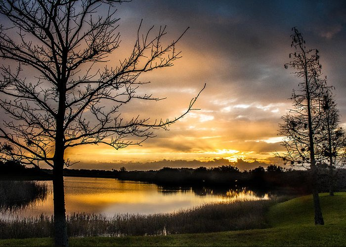 Sunrise Greeting Card featuring the photograph Sunrise Over Valhalla by Norman Johnson