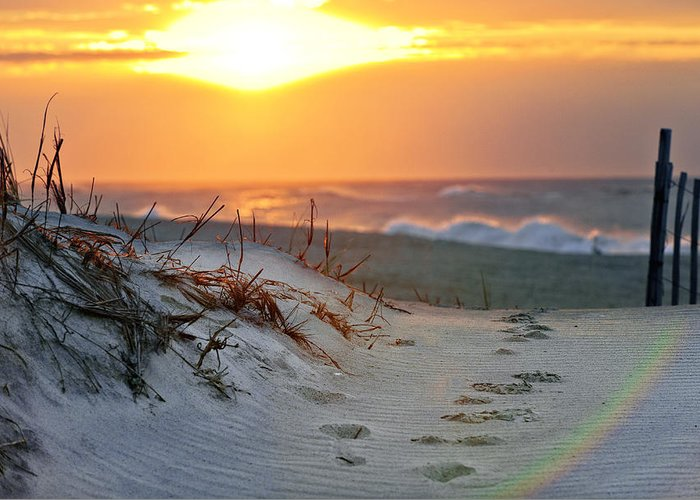 Sunrise Greeting Card featuring the photograph Sunrise Rainbow by Vicki Jauron