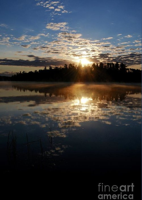 Sunrise Greeting Card featuring the photograph Sunrise Reflections by Sandra Updyke