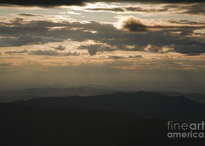 Hike Greeting Card featuring the photograph Sunset - White Mountains New Hampshire Usa by Erin Paul Donovan
