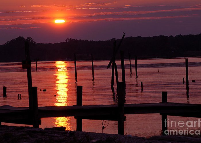Clay Greeting Card featuring the photograph Sunset At Colonial Beach by Clayton Bruster