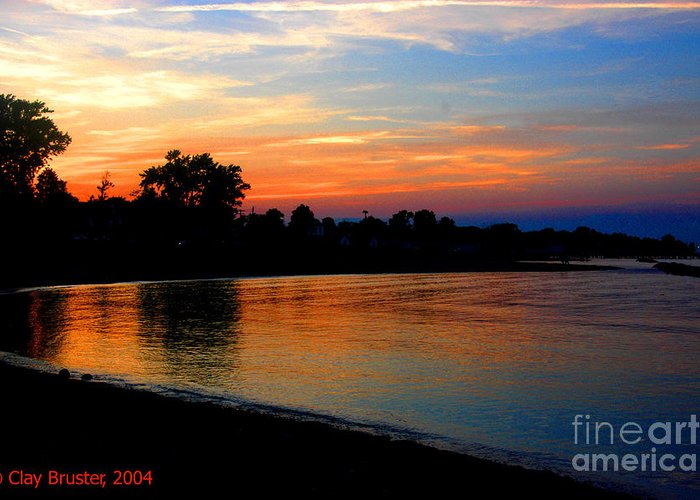 Clay Greeting Card featuring the photograph Sunset At Colonial Beach Cove by Clayton Bruster