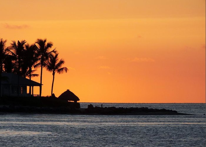 Sunset Greeting Card featuring the photograph Sunset At Key West by Sheli Kesteloot