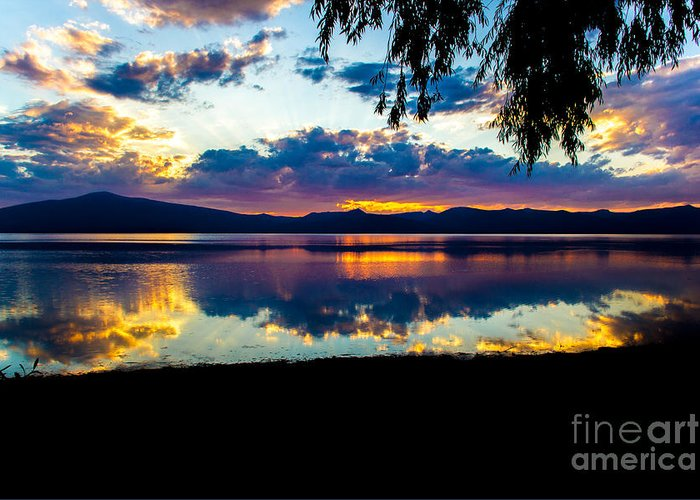 Christians Greeting Card featuring the photograph Agency Lake Sunset, Oregon by Tirza Roring