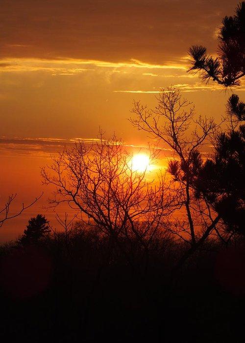 Sunset Greeting Card featuring the photograph Sunset At Lake Michigan by Sheli Kesteloot
