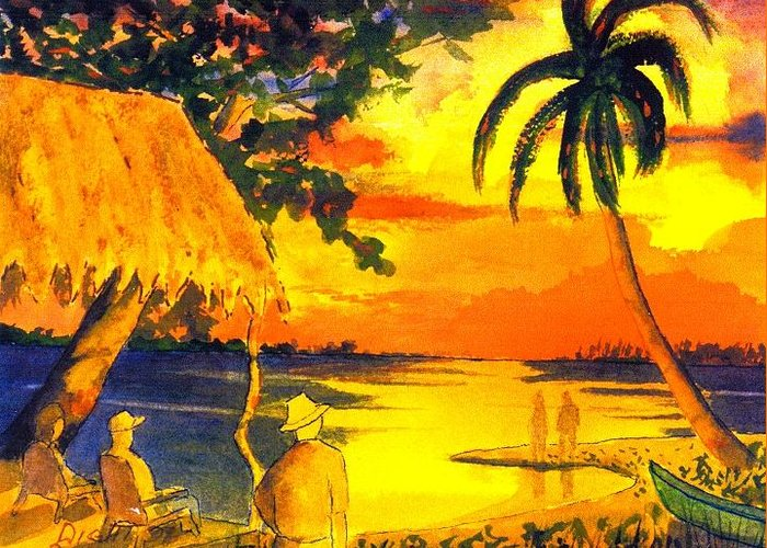 Mexico Greeting Card featuring the painting Sunset At Las Lupita by Buster Dight