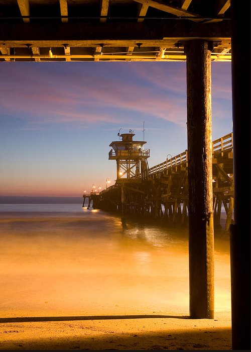 San Clemente Greeting Card featuring the photograph Sunset At San Clemente by Cliff Wassmann