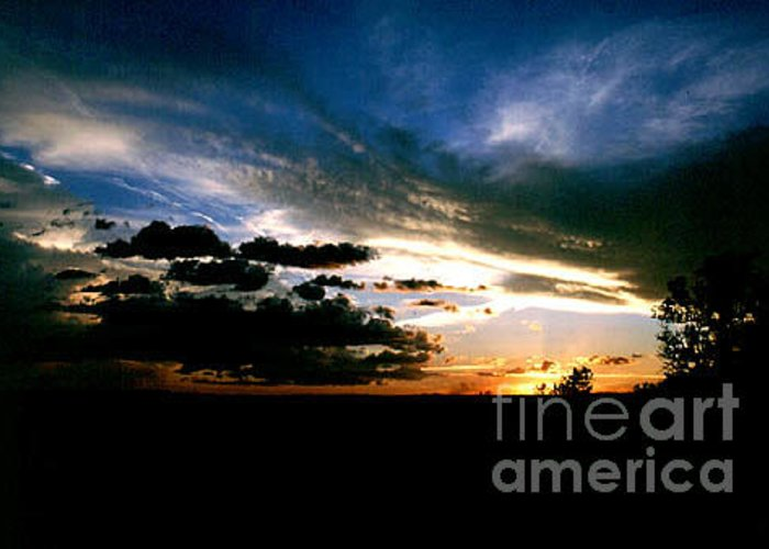 Sunset Greeting Card featuring the photograph Sunset At The North Rim by Kathy McClure
