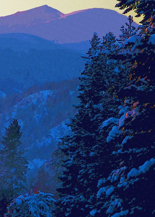 Sunset Greeting Card featuring the digital art Sunset At Zero by Robert Bissett