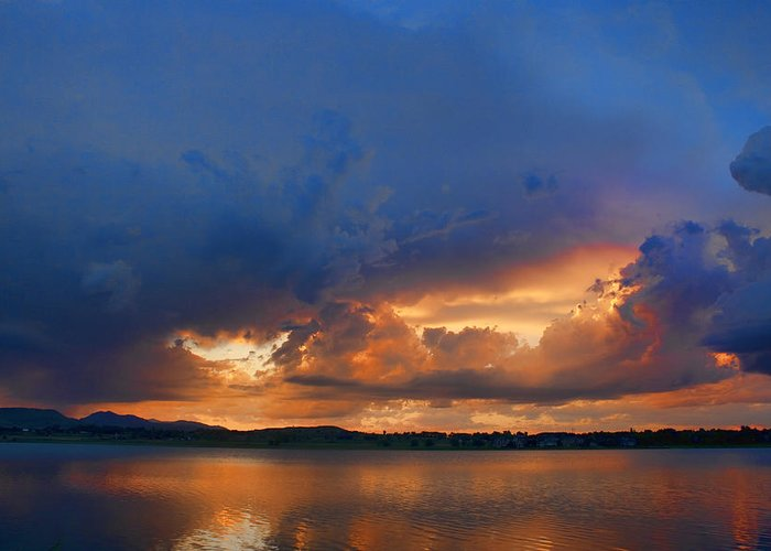Blues Greeting Card featuring the photograph Sunset Blues by James BO Insogna
