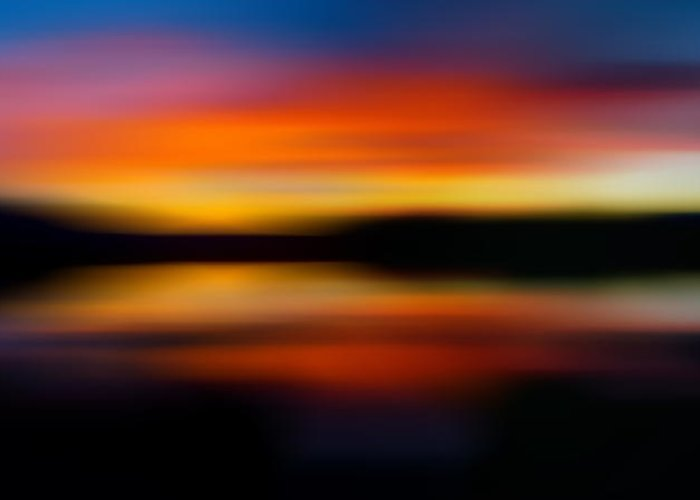 Impressionistic Greeting Card featuring the photograph Sunset Colors - Impressionistic by TL Mair