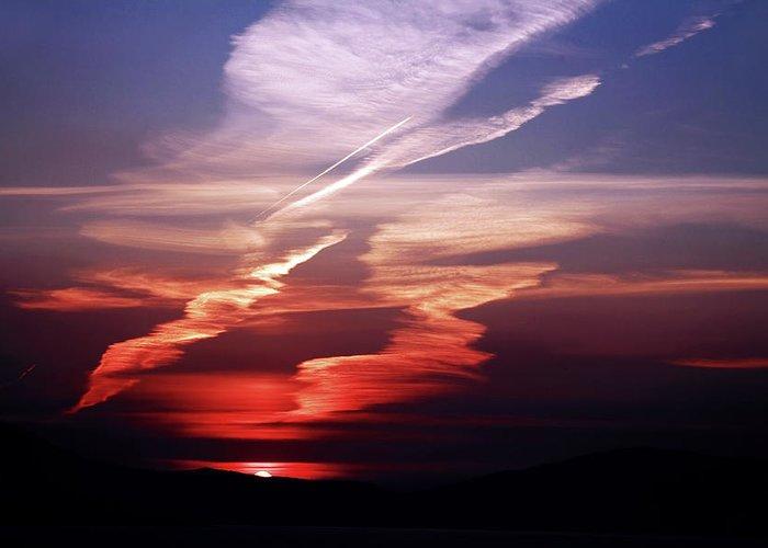 Ireland Greeting Card featuring the photograph Sunset Dance by Aidan Moran
