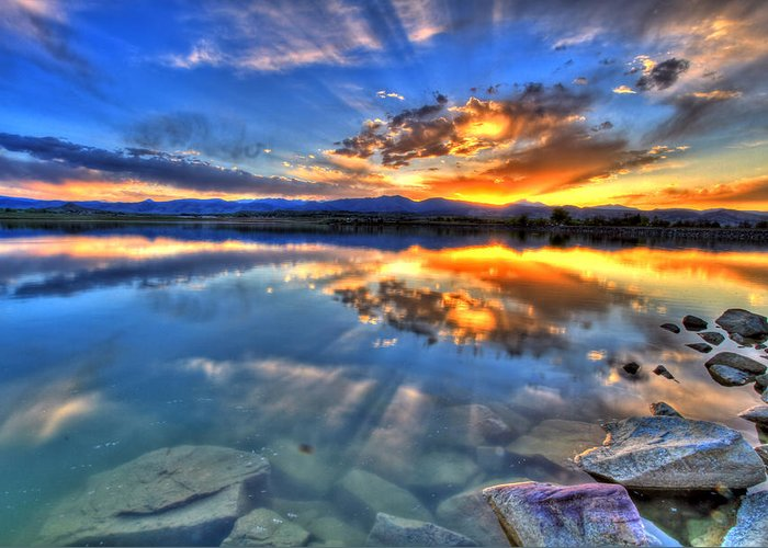 Colorado Greeting Card featuring the photograph Sunset Explosion by Scott Mahon