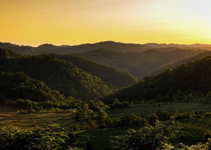 Sunset Greeting Card featuring the photograph Sunset In Appalachia by Cris Ritchie