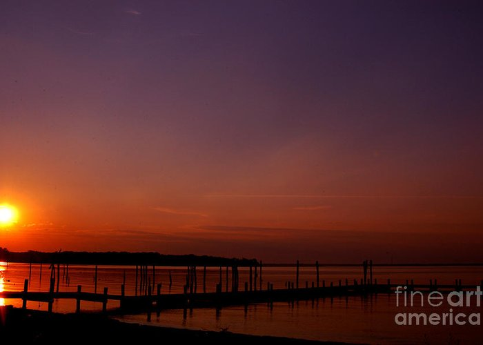 Clay Greeting Card featuring the photograph Sunset In Colonial Beach by Clayton Bruster
