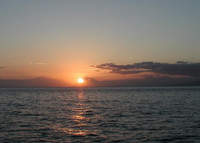 Sunset Greeting Card featuring the photograph Sunset In Maui by Bj Hodges
