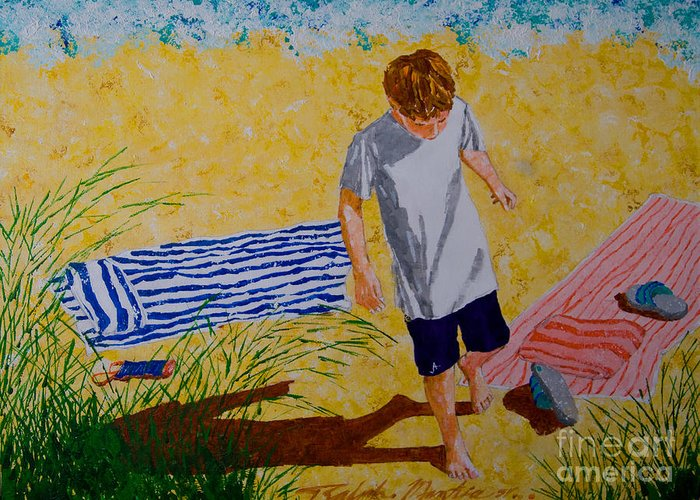Beach Greeting Card featuring the painting Sunset Key II by Art Mantia