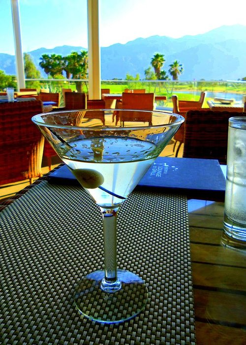 Martini Greeting Card featuring the photograph Sunset Martini by Randall Weidner