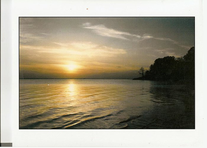 Beautiful Greeting Card featuring the photograph Sunset On The James by Anne-Elizabeth Whiteway