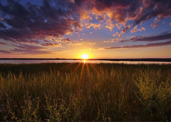 Marsh Greeting Card featuring the photograph Sunset On The Marsh by Joseph Rossbach