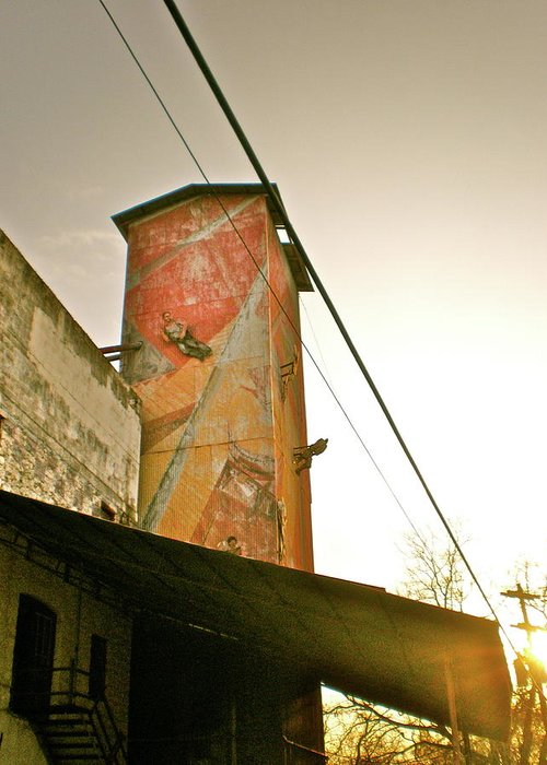 Feed Mill Cafe Greeting Card featuring the photograph Sunset On The Mill by Sheep McTavish