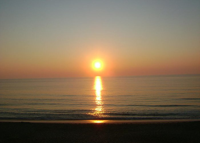 Sunset Outer Banks 1 Greeting Card featuring the photograph Sunset Outer Banks1 by Cynthia Butler