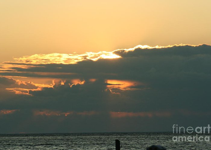 Sunset Greeting Card featuring the photograph Sunset Over Egg Harbor Wi by Tommy Anderson