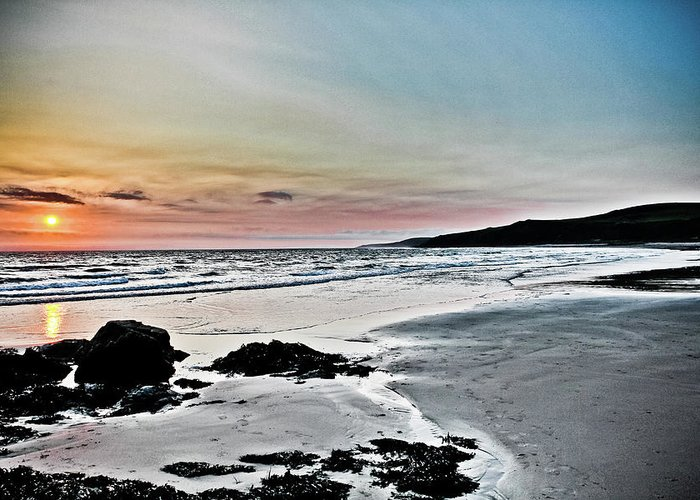 Scotland Greeting Card featuring the photograph Sunset Over Killantringan Bay by Derek Beattie