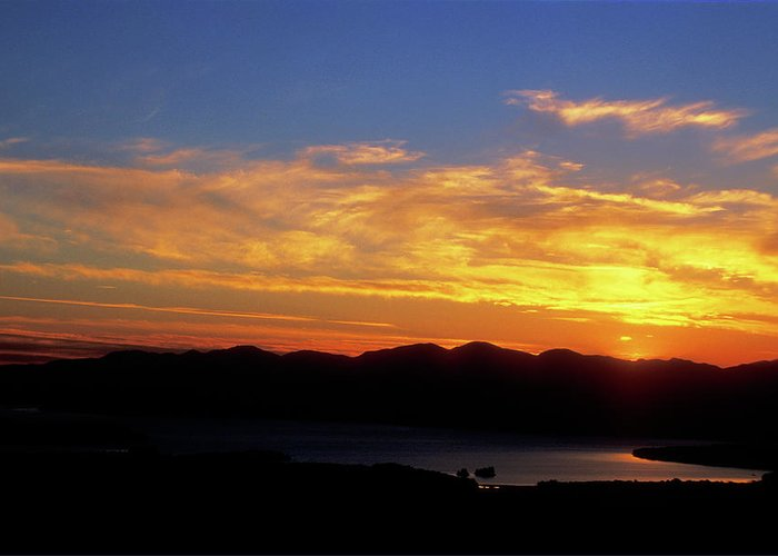 Lake Champlain Greeting Card featuring the photograph Sunset Over Lake Champlain From Mount Philo by John Burk