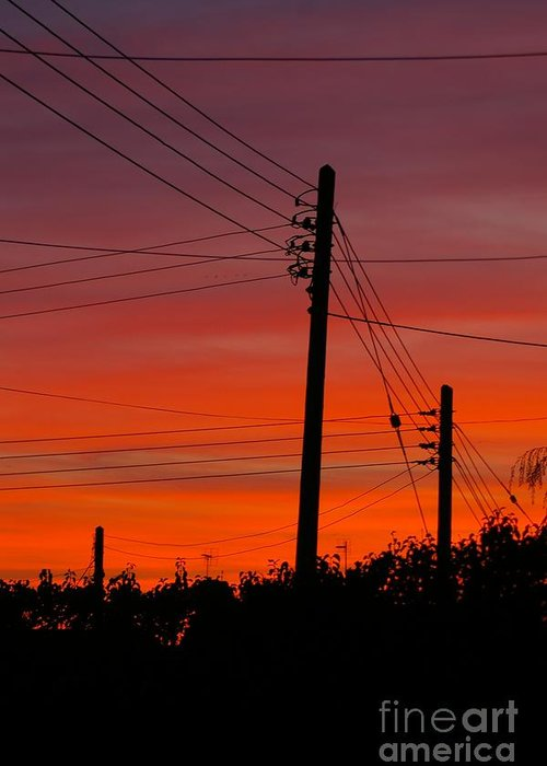 Sunset Greeting Card featuring the photograph Sunset Power by Catja Pafort