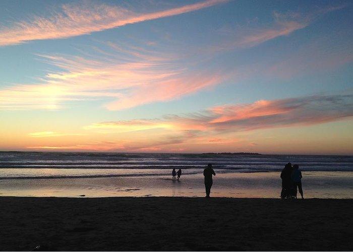 Ocean Greeting Card featuring the photograph Sunset by Shari Chavira