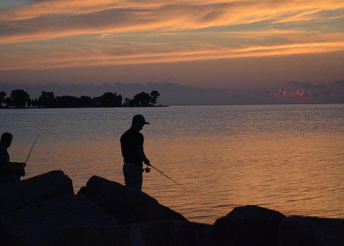 Sunset Greeting Card featuring the photograph Sunset Silhouette by Karen Majkrzak