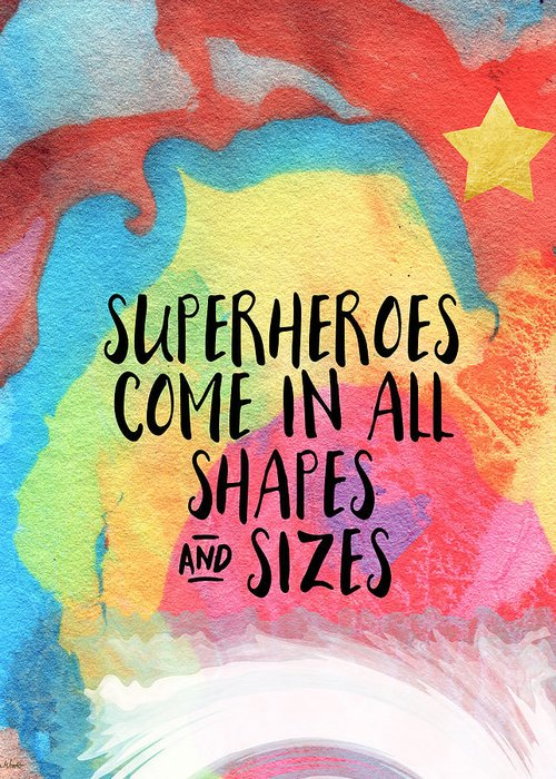 Superhero Mixed Media Greeting Cards