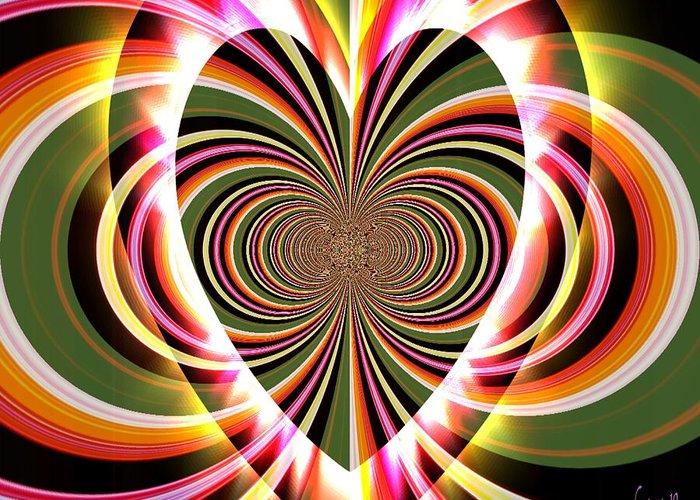 Fania Simon Greeting Card featuring the digital art Supportive Heart by Fania Simon
