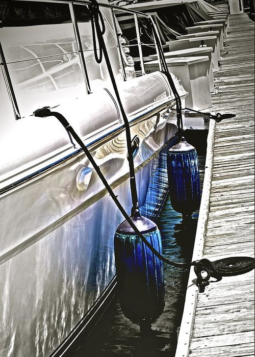 Boat Greeting Card featuring the photograph Sure-thing Boat by Gwyn Newcombe