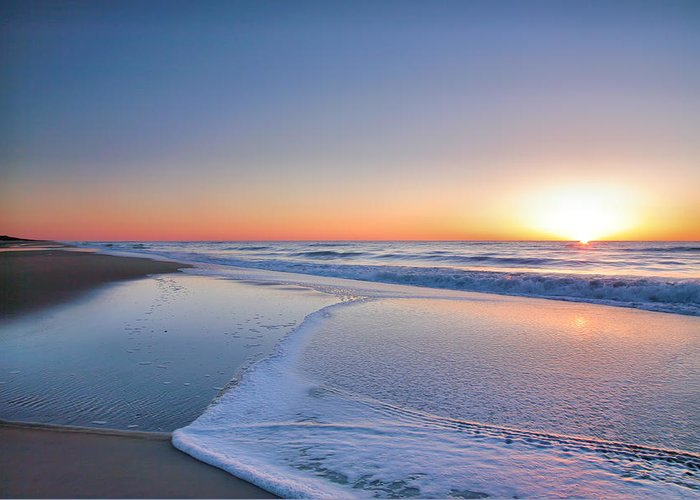Beach Greeting Card featuring the photograph Surf And Sand IIi by Steven Ainsworth