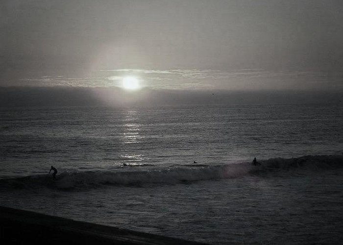 Surfers Greeting Card featuring the photograph Surf Until Sunset by Melody Glennon