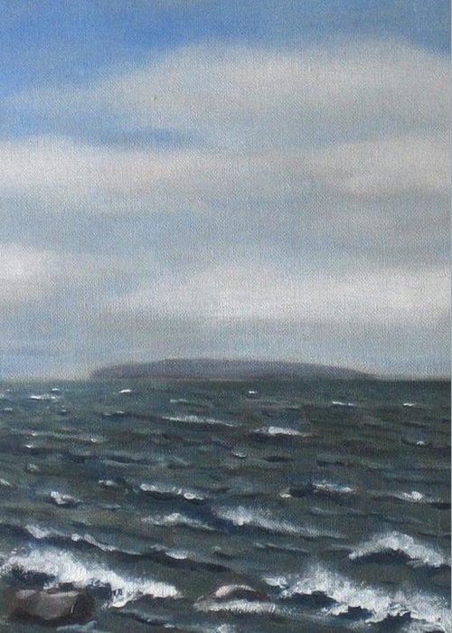 Water Greeting Card featuring the painting Surge by Maren Jeskanen