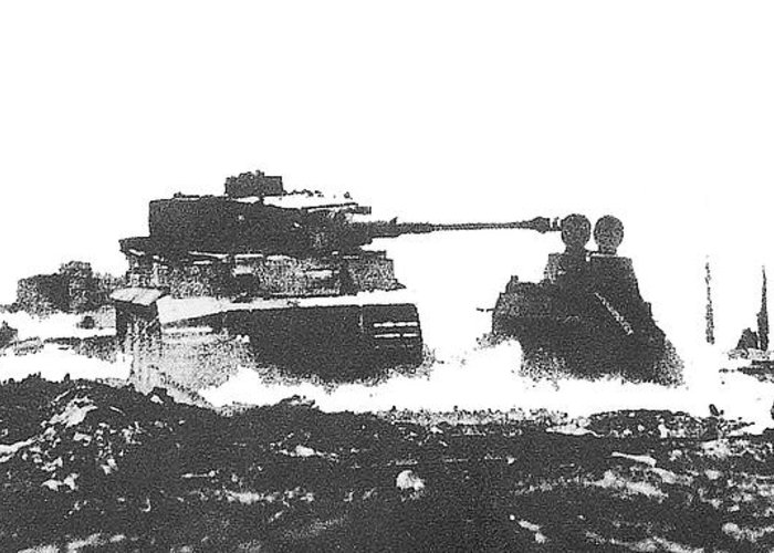 battle of kursk surreal soviet tanks 1943 greeting card for sale by