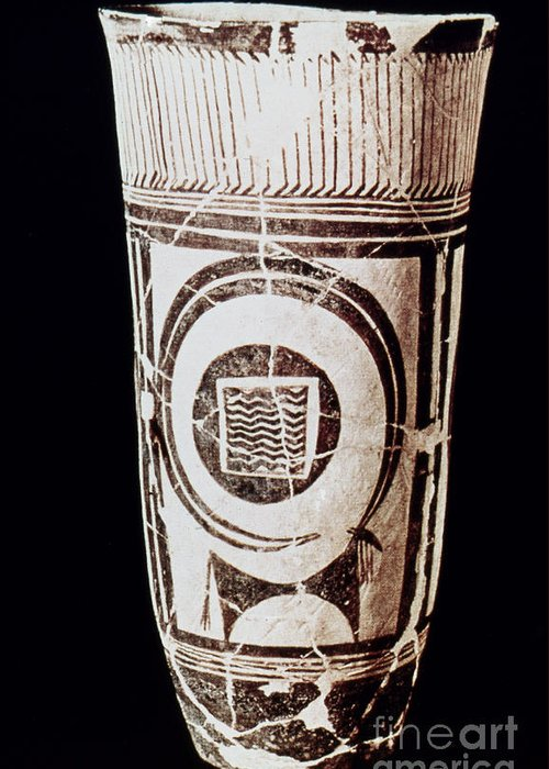 3500 B.c. Greeting Card featuring the photograph Susa Ware Tumbler by Granger