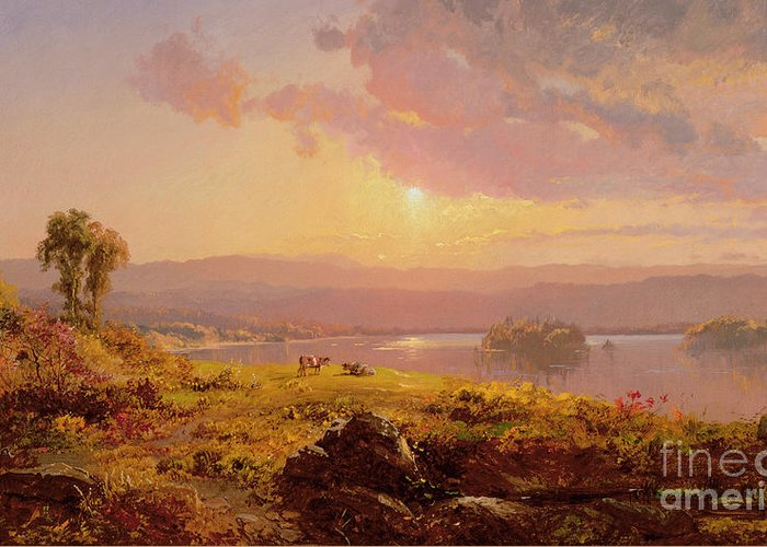 Susquehanna River Greeting Card featuring the painting Susquehanna River by Jasper Francis Cropsey