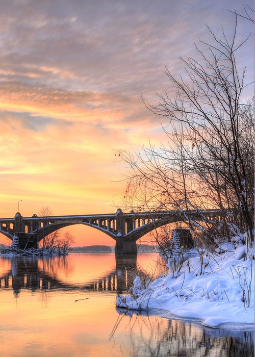 Susquehanna Greeting Card featuring the photograph Susquehanna Sunrise by JC Findley