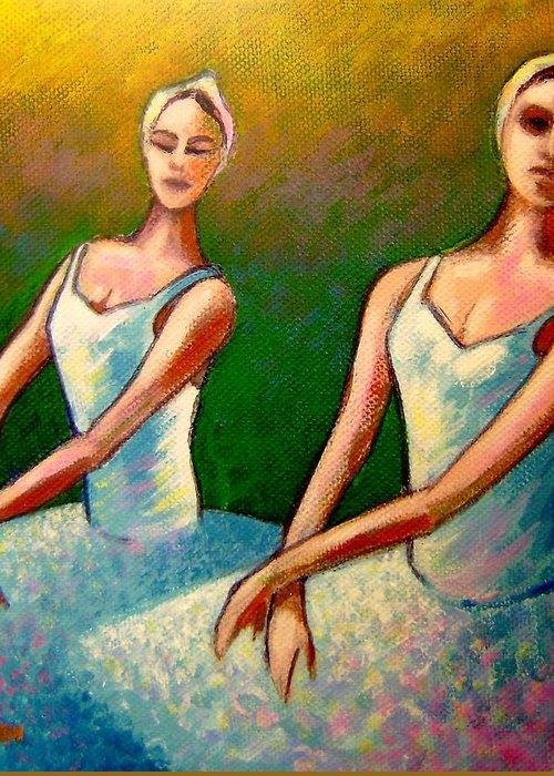 Swan Lake Ballet Greeting Card featuring the painting Swan Lake I by John Nolan