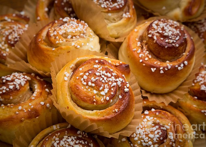 Europe Greeting Card featuring the photograph Swedish Cinnamon Rolls by Inge Johnsson