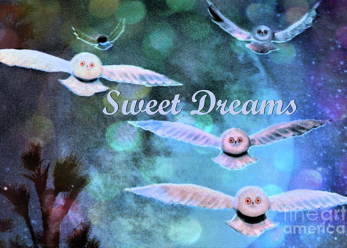 Owls Greeting Card featuring the photograph Sweet Dreams by Nina Silver