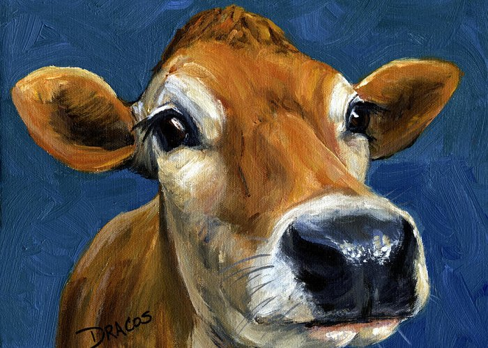 Jersey Cow Greeting Cards